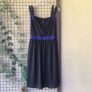 {Torrid} Sz 12 Black Dress w/Royal Blue Trim